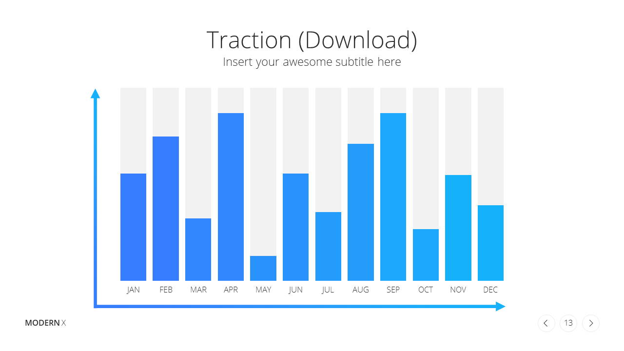 Modern X Pitch Deck Presentation Template Traction