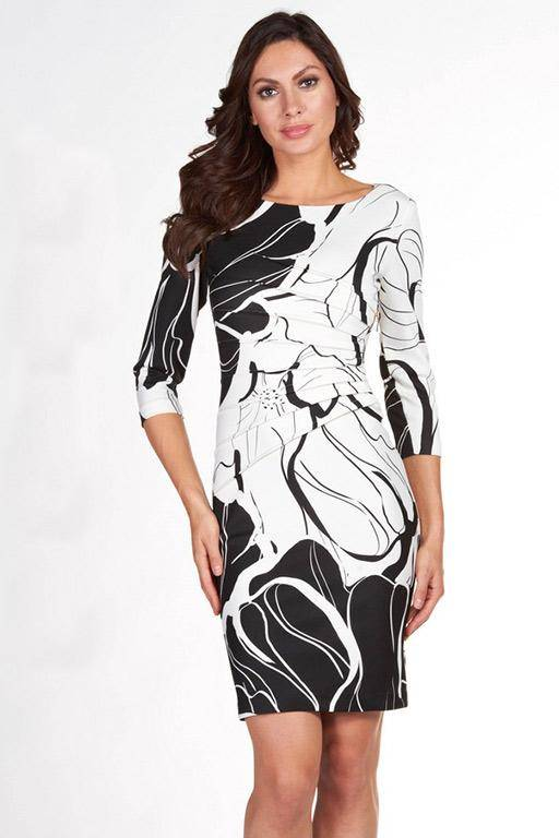 FRANK LYMAN 66314 MONOCHROME DRESS FLORAL