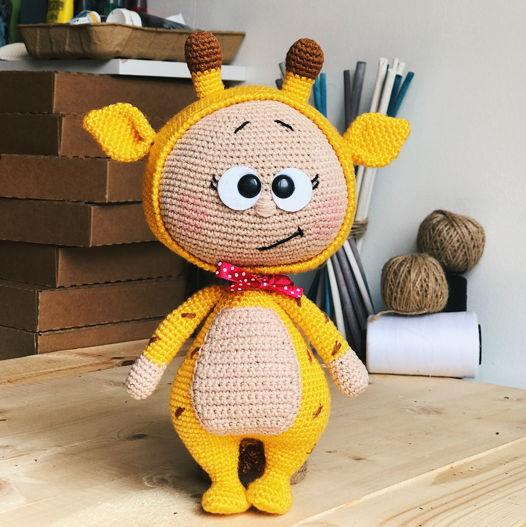 вязанная игрушк, малыш Бруно