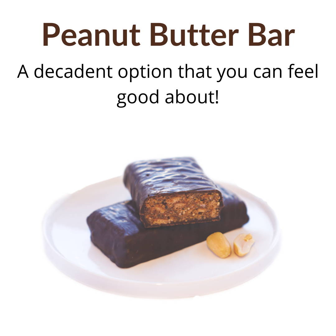 Peanut Butter Bar: A decadent option that you can feel good about!