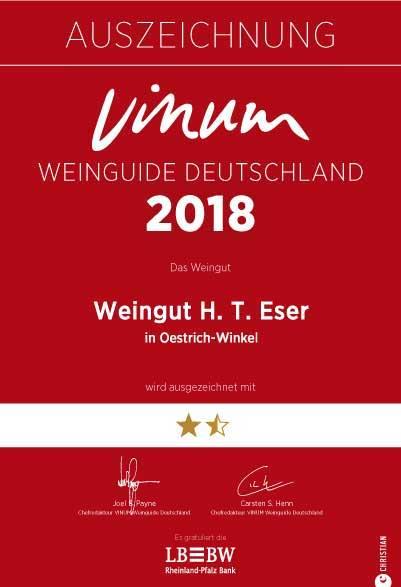 BRueder Eser Urkunde Vinum 2018