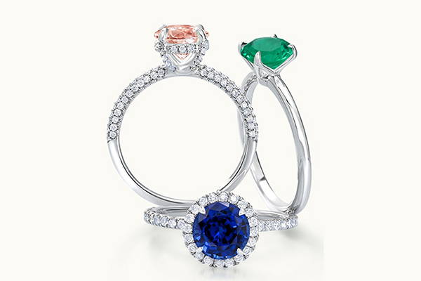 Coloured Gemstone Engagement Rings Australia