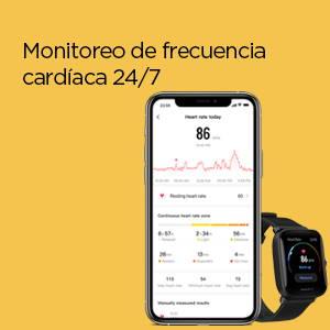Amazfit Bip U - Monitoreo de frecuencia cardíaca 24/7