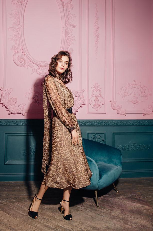 Шифоновое леопардовое платье MurMur