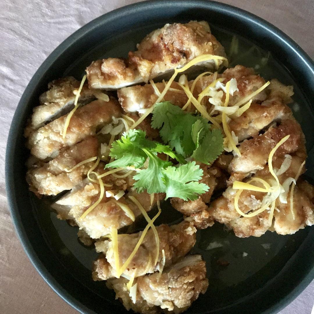Lemon chicken, one of my tai chau/zi char favourite dishes