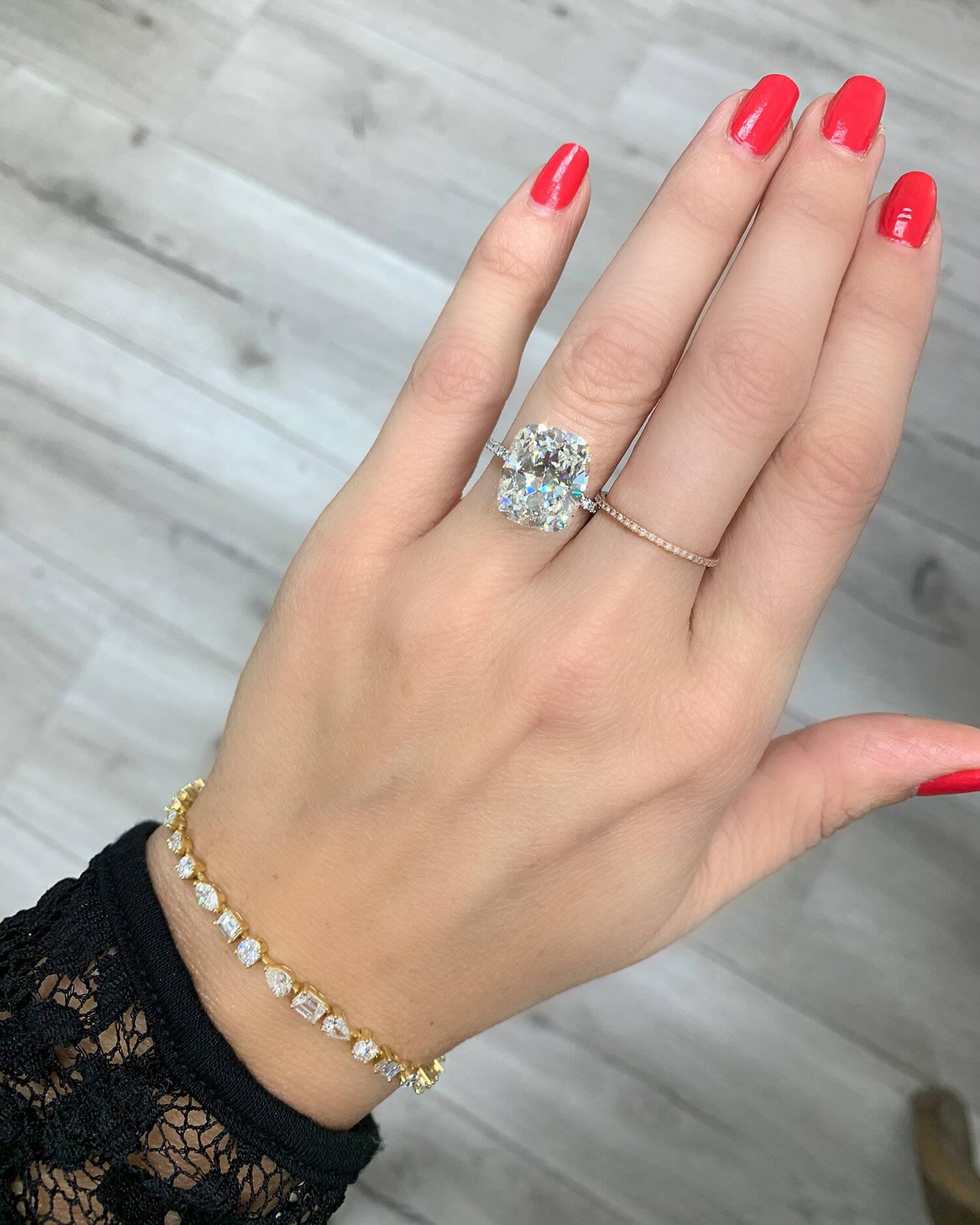 Miss Diamond Ring 7 Carat 8 Carat Radiant Diamond Engagement Ring