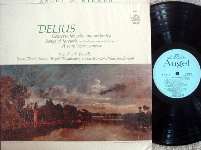 EMI Angel Blue / DU PRE-SARGENT, - Delius Cello Concerto, MINT!