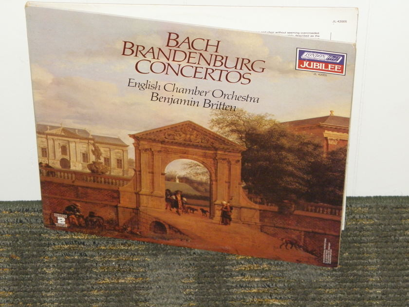 "Benjamin Britten/English Chamber Orchestra - Bach ""Brandenburg Concertos"" London Jubilee JL 42005 2 LP set Holland Pressings"