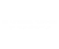 No artificial flavours or preservative