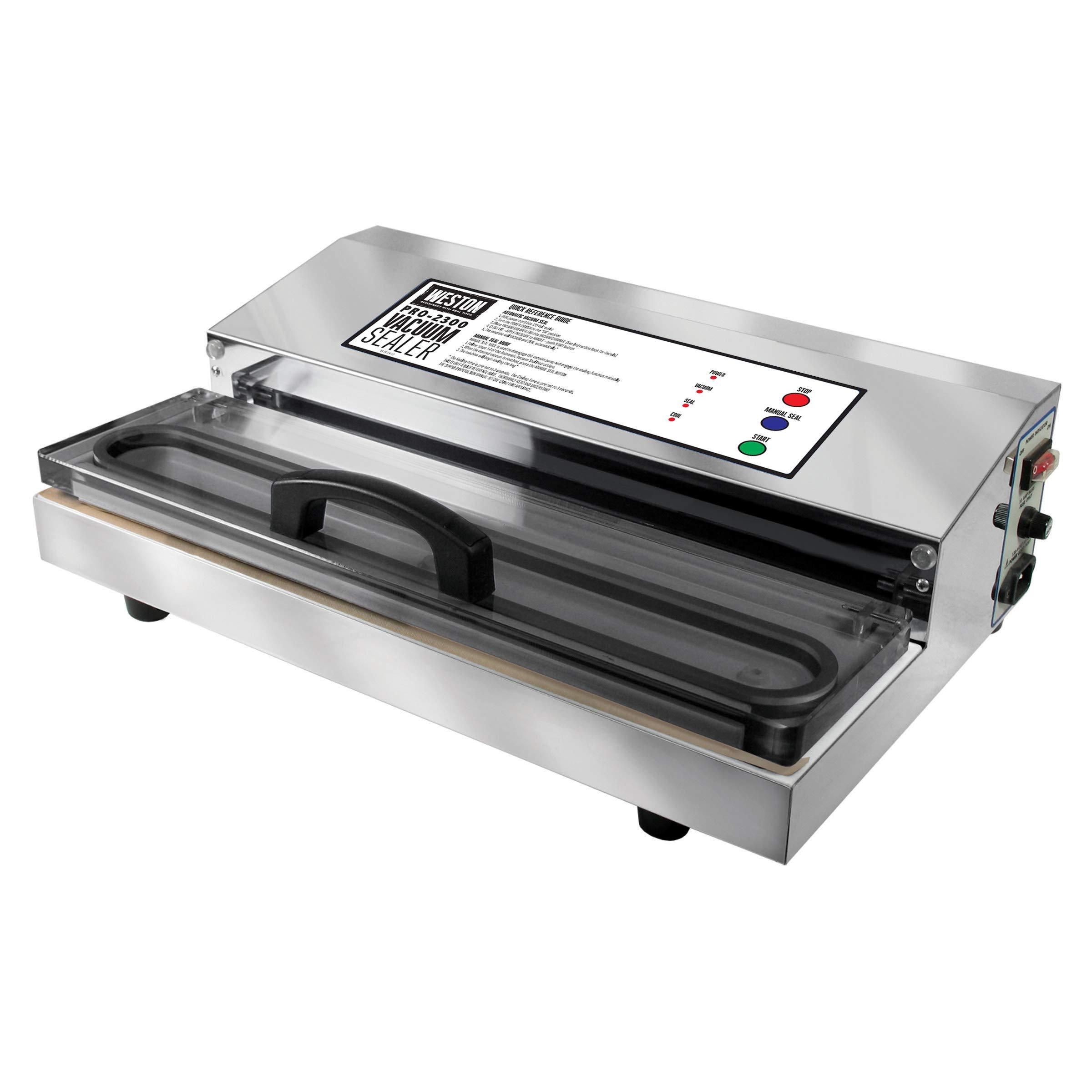 Nesco Vs 12 Vacuum Sealer Vs Weston Pro 2300 Vacuum Sealer Slant
