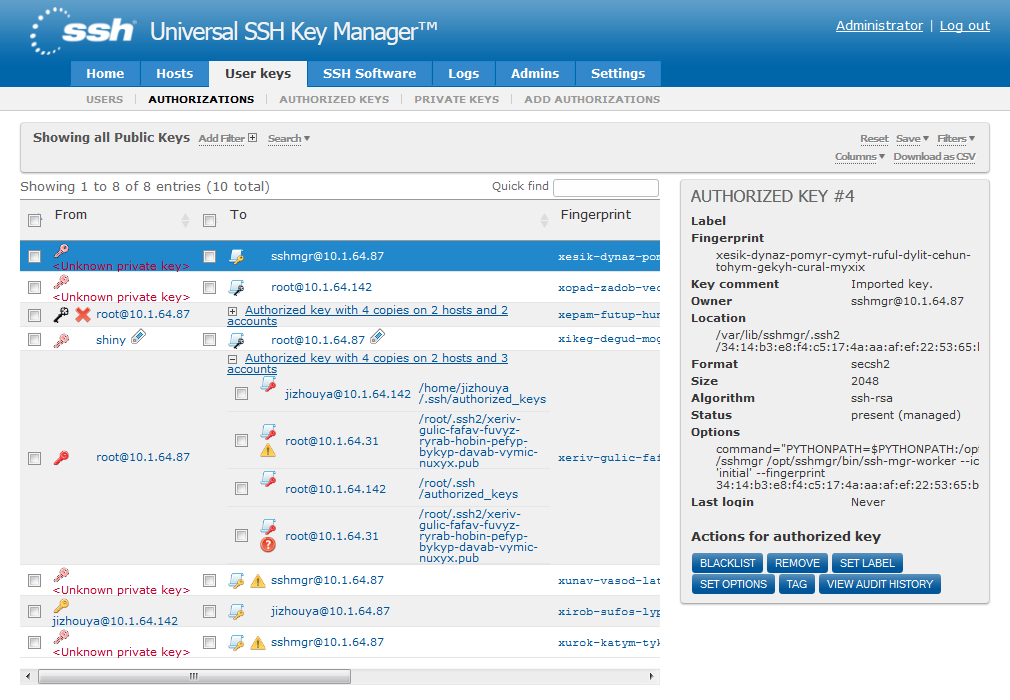 SSH Universal Key Manager - What are the best managers for