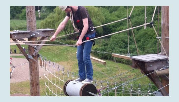 querfeldein hochseilgarten akrobatic balance akt