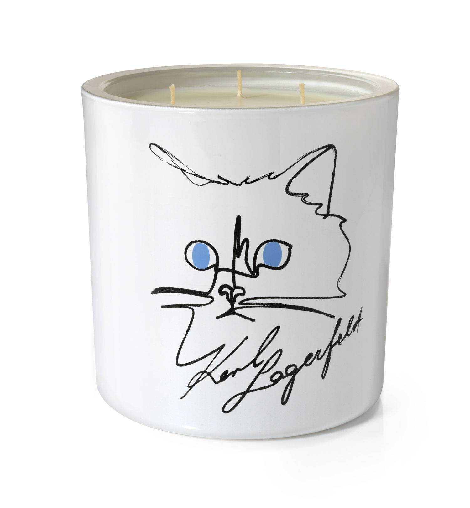 "Candle Choupette, ""Candle Choupette"" The adorable and famous Choupette now has her own candle. KARL LAGERFELD and perfumer John-Paul Welton have imagined a refined and elegant delightful scent. This spicy fragrance full of contrasts oscillates between prickly and delicate notes, unveiling in its delicious trail a new facet of Karl Lagerfeld's personality. Who could resist ""Candle Choupette""!"