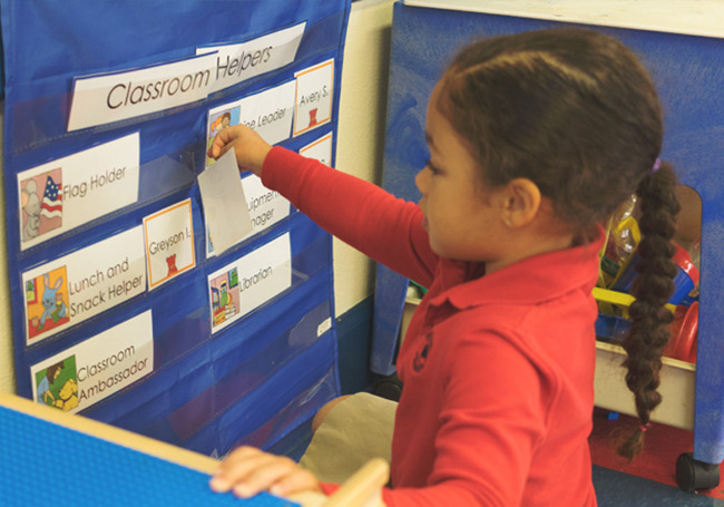 Primrose Classroom Helpers Learn Responsibility