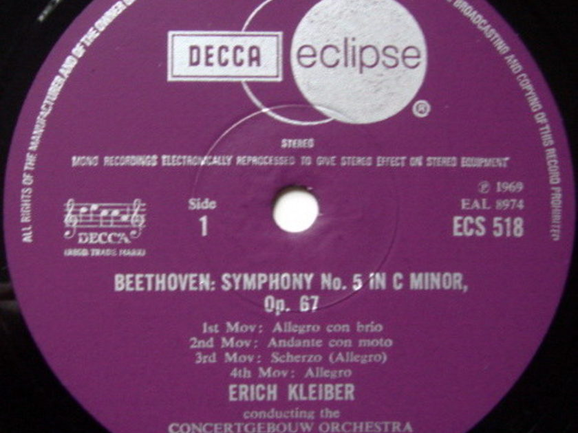 DECCA ECLIPSE / ERICH KLEIBER, - Beethoven Symphony No.5, NM!