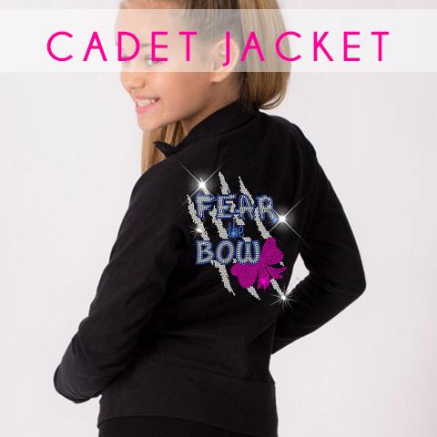 glitterstarz bling basics black jacket cadet rhinestone custom teamwear