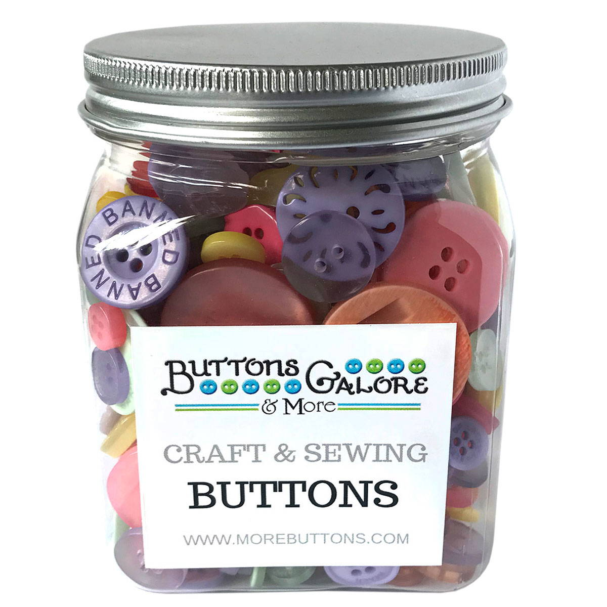 Buy Cookie Jar Filled with Sewing & Craft Buttons Online