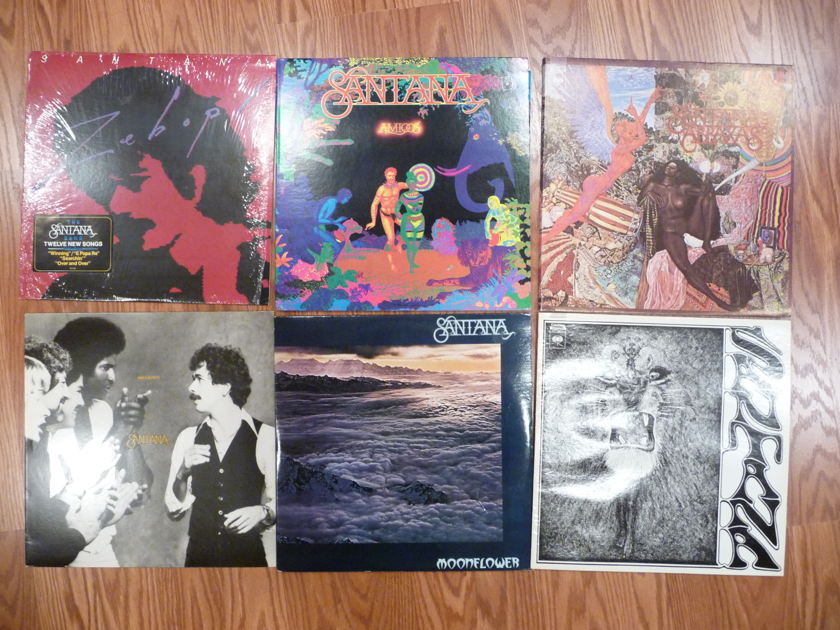 Santana, Hendrix, Dead - collection of 14 albums from personal collection