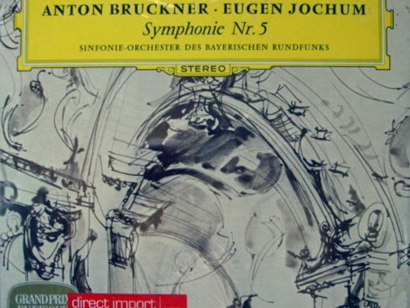 ★Sealed★ DG / JOCHUM, - Bruckner Symphony No.5, 2LP Set!