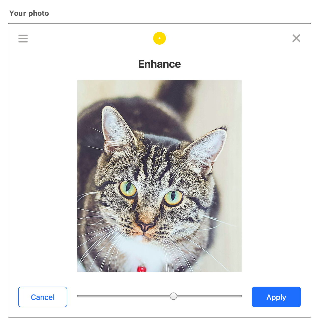 Processed image, enhance