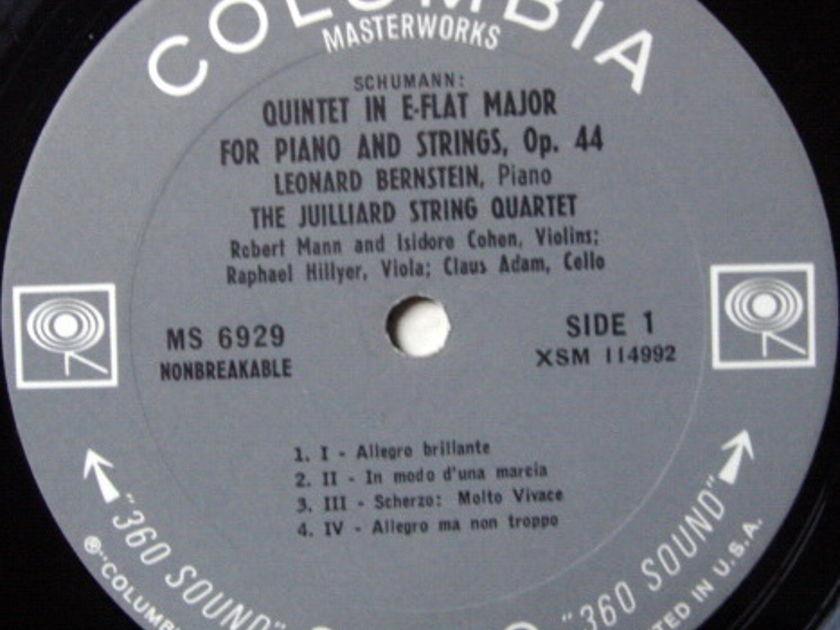 Columbia 2-EYE / JUILLIARD QT-BERNSTEIN, - Schumann Piano Quintet, NM!