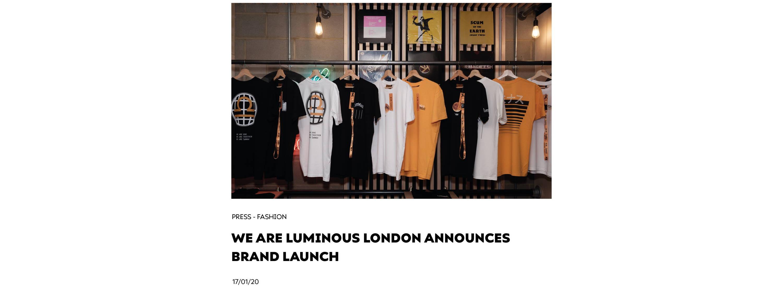 We Are Luminous London Announces Brand Launch