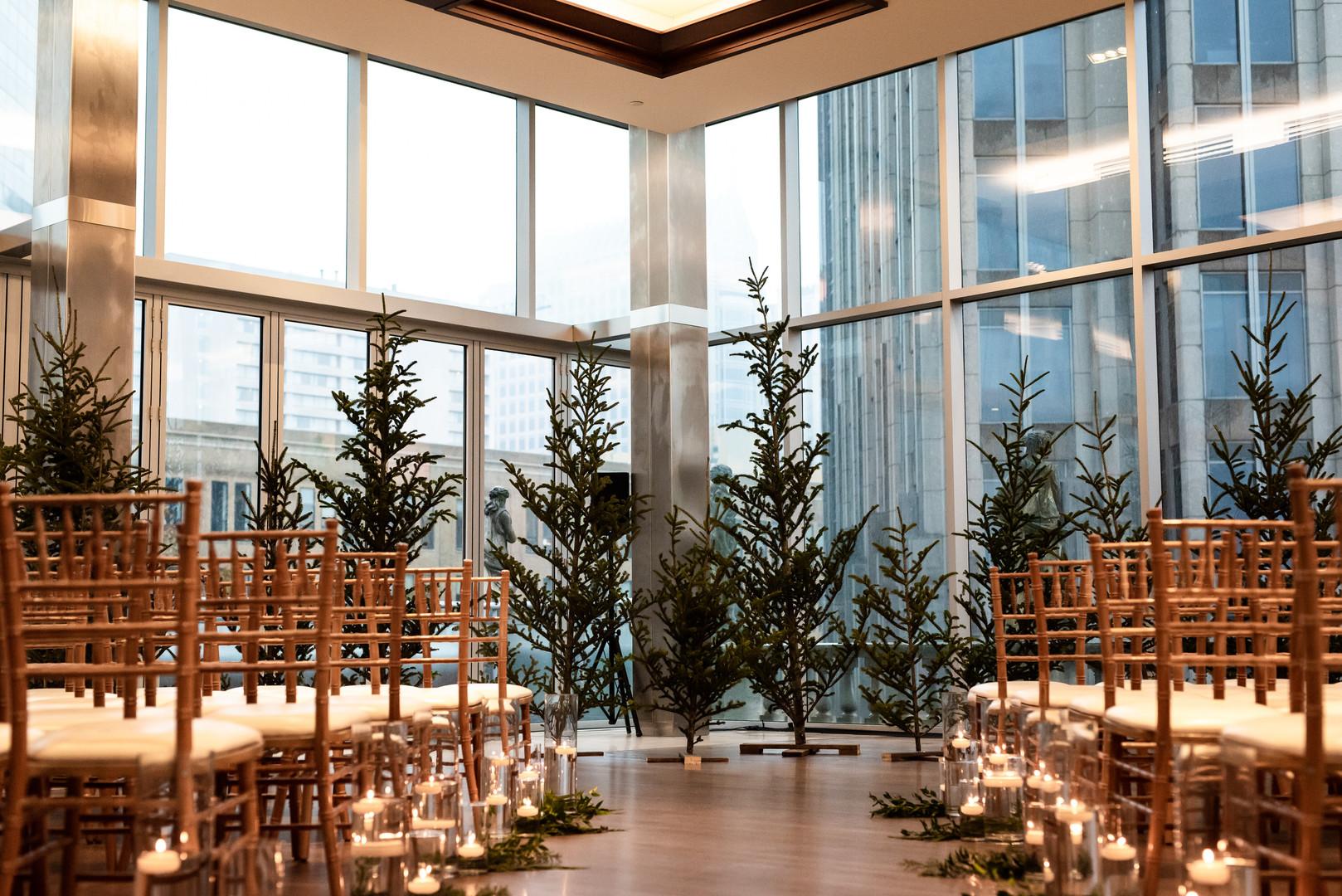 A Romantic Mood at a Winter Wedding