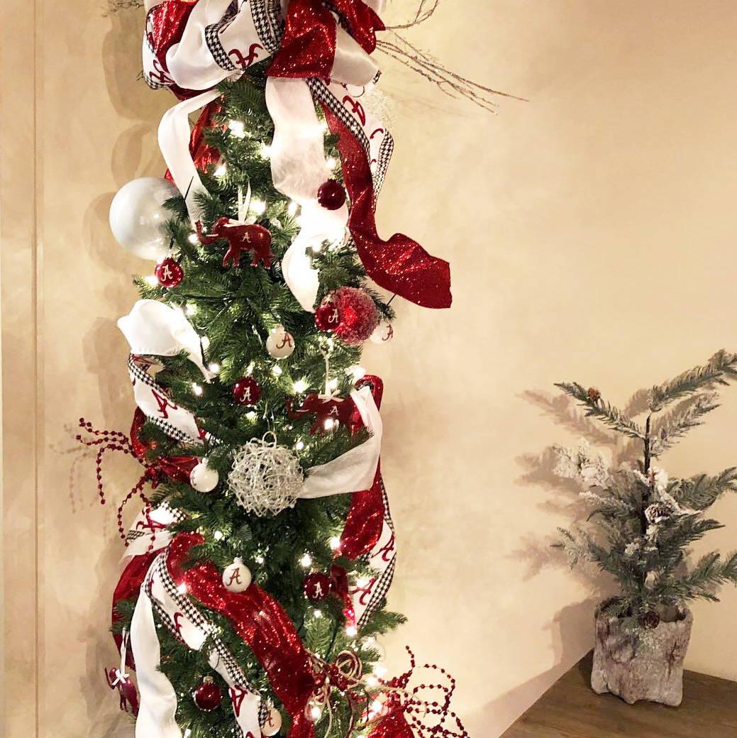 Alabama Football (Roll Tide) themed Christmas tree