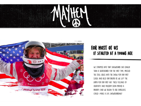 Executive Producer of Kyle Mack's Mayhem Snowboard Film