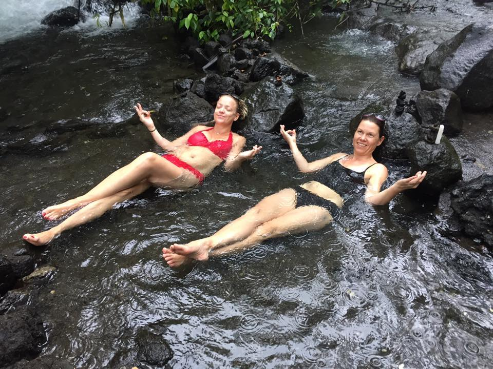 Picture of lying in hot river, Antonio, Costa Rica