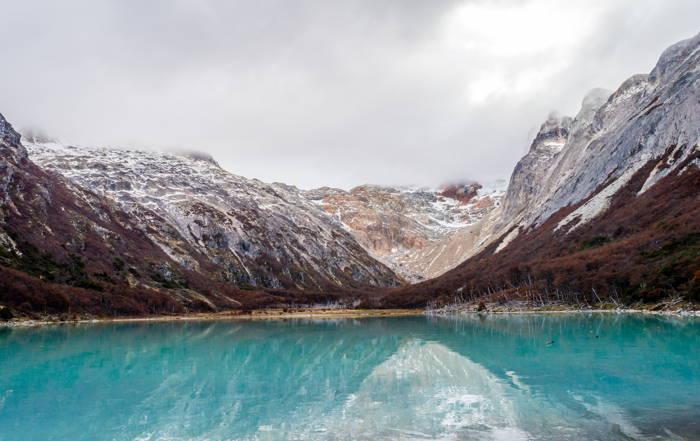 laguna esmeralda em Ushuaia