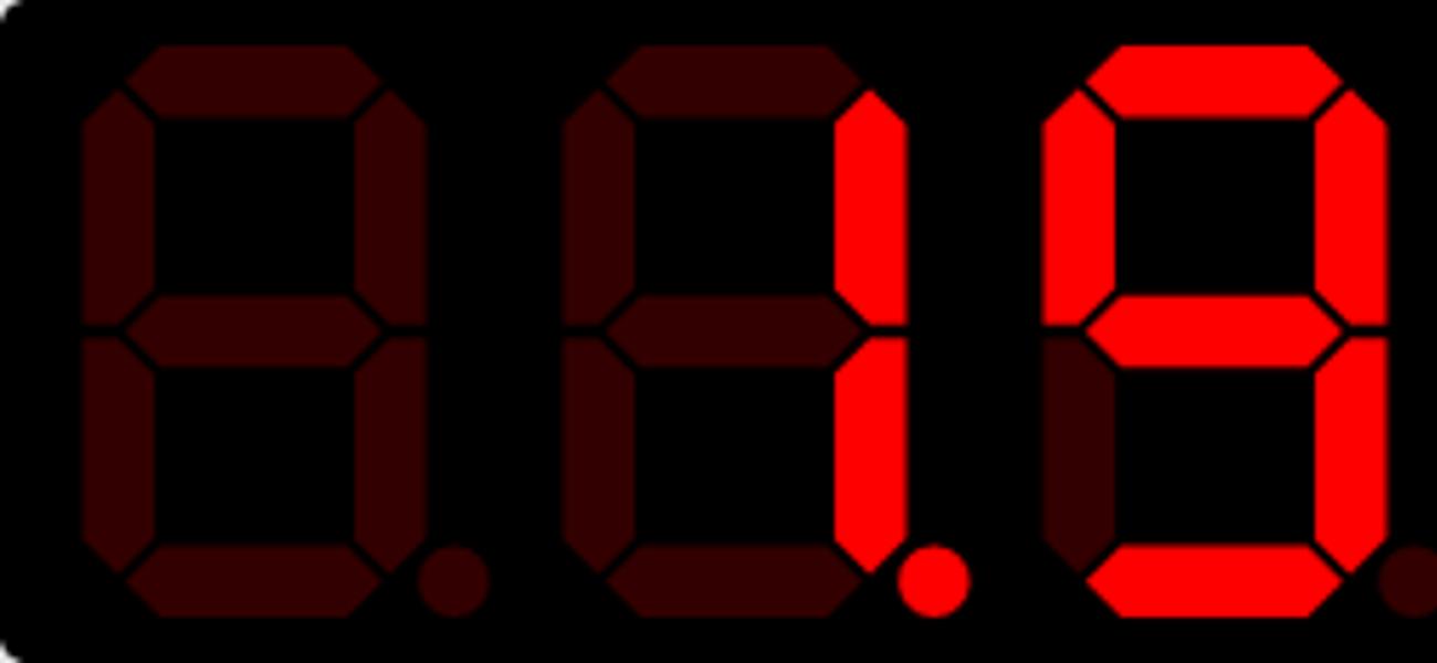 sevenSeg.js - семисегментный дисплей на jQuery