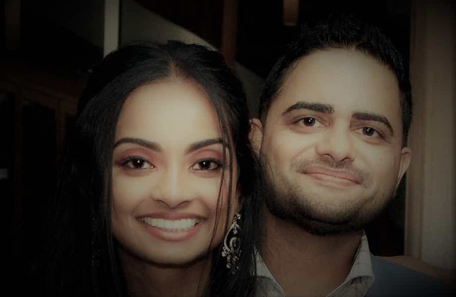 Franchise Owner of Primrose School Ankit Patel with his wife