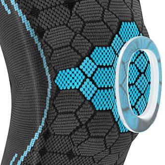 Kniebandage mit weichem Silikonring