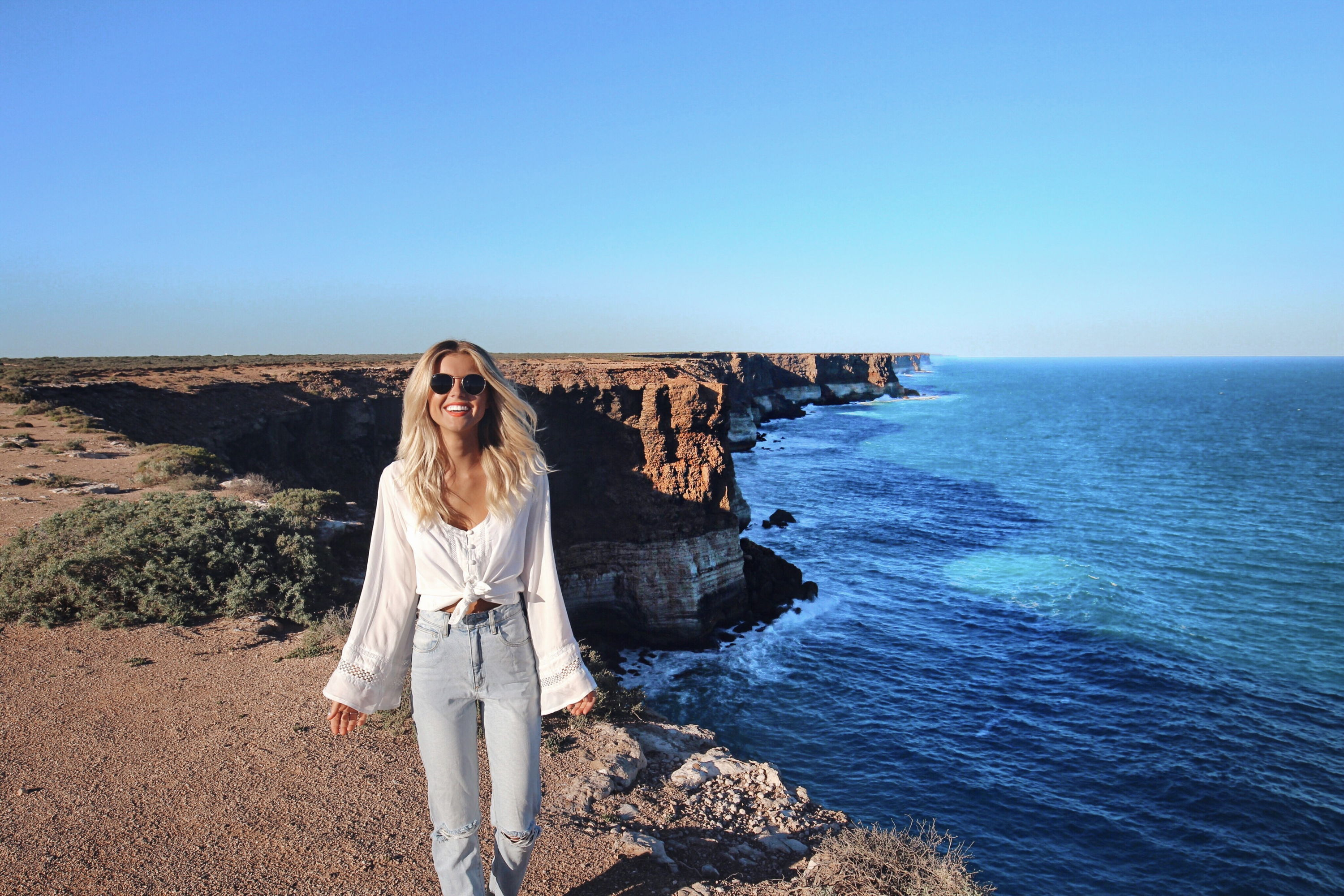 The edge of The Nullarbor - Elise Cook