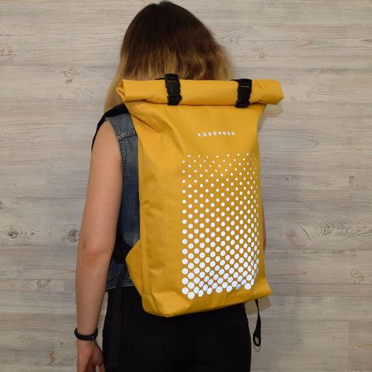Желтый рюкзак ролл топ / Yellow backpack