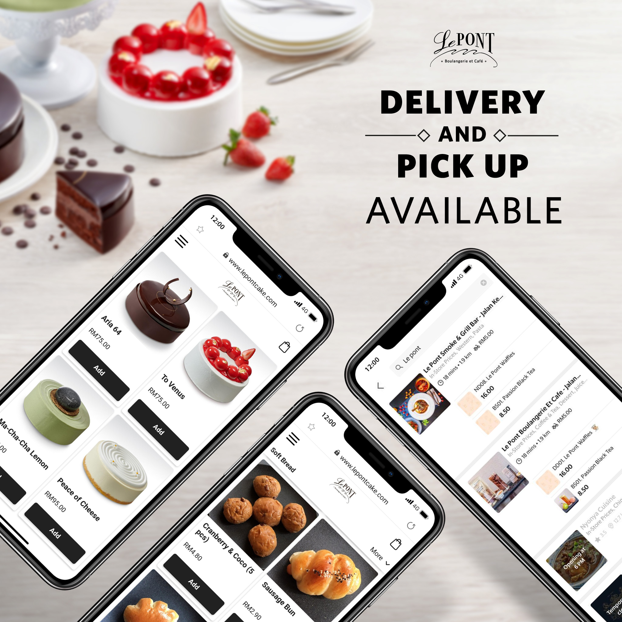 Delivery, Drive Thru Pick Up and Preorder