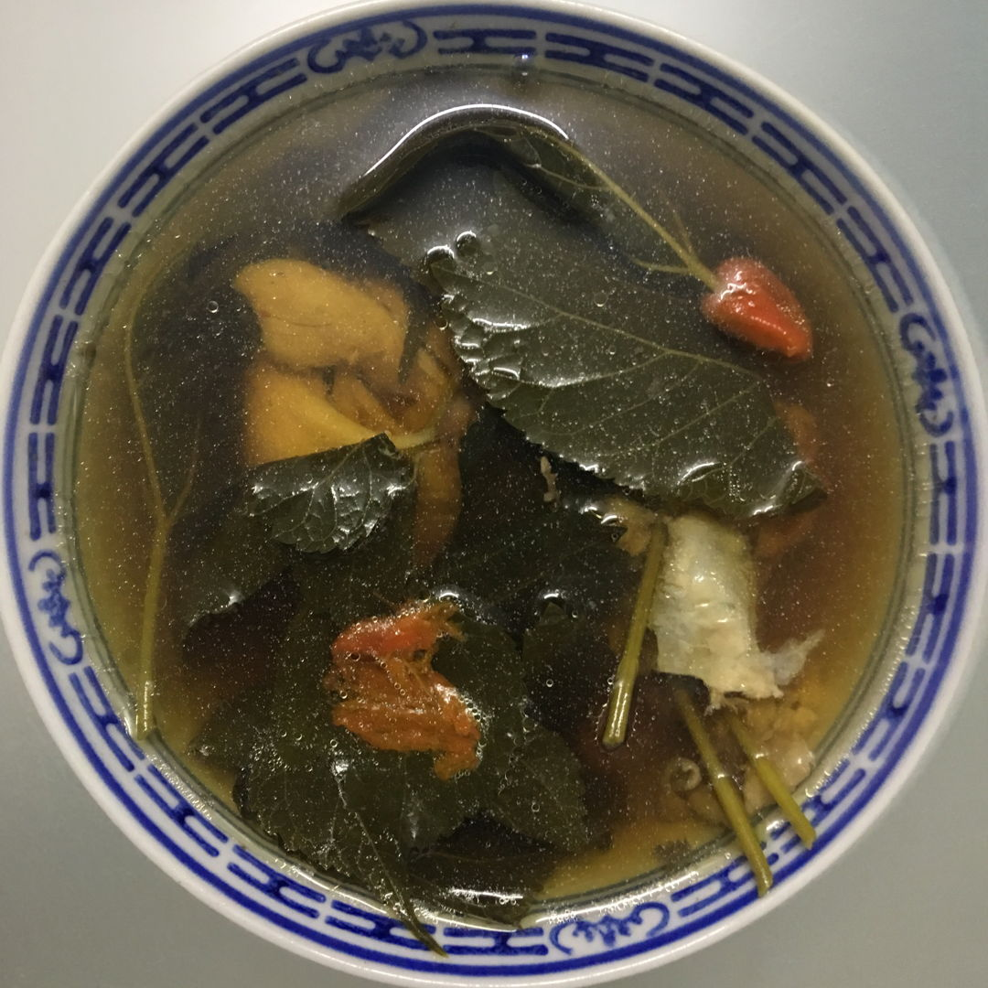 Nov 27th, 2019 - mulberry leafs soup. Awww... delicious.