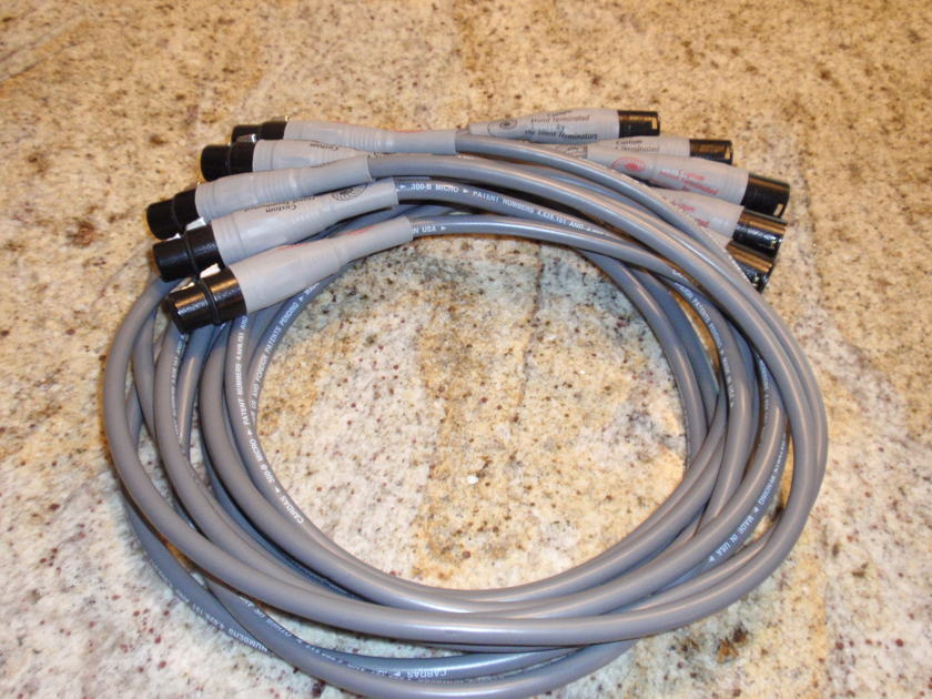 CARDAS 300B Microtwin Interconnect QTY 5  XLR connectors, 2 Meter