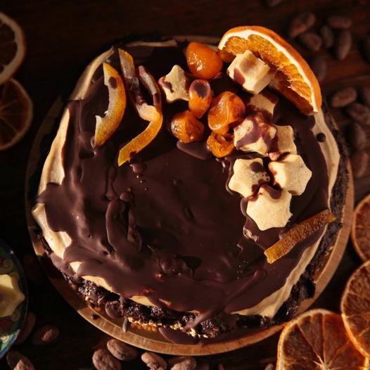 Бесподобный брауни vegan & raw с натуральным чёрным шоколадом. 500 гр.