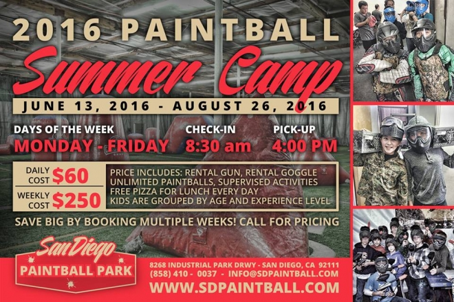 Paintball Summer Camp in San Diego