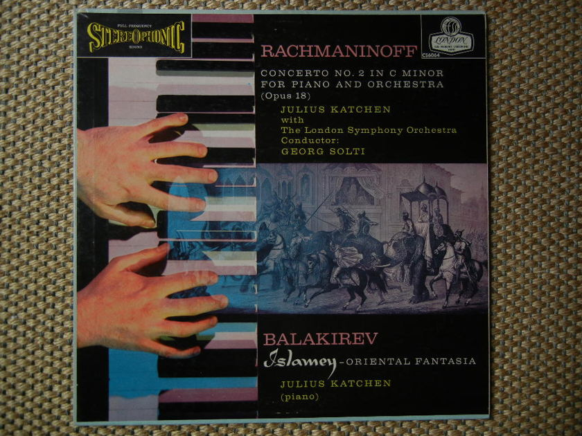 RACHMANINOFF-BALAKIREV/ - Concerto No.2 for piano/Islamey Oriental Fantasia London CS--6064 Original BLUEBACK Stereo