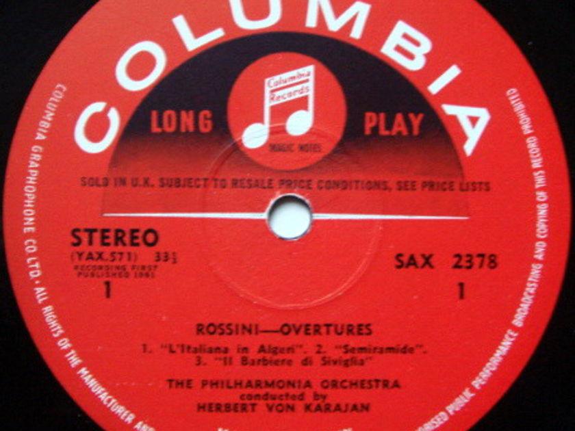 UK COLUMBIA SAX SEMI-CIRCLE / KARAJAN, - Rossini William Tell Overture & the Famous Five, NM-!