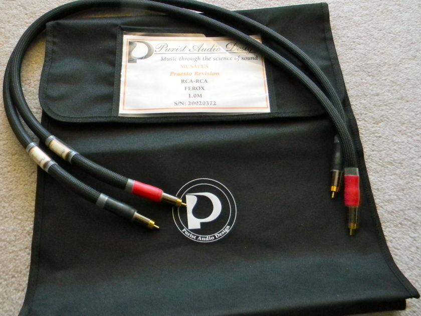 Purist Adio Design Purist Audio Design's Musaeus- Praesto Revision IC, 1m, RCA