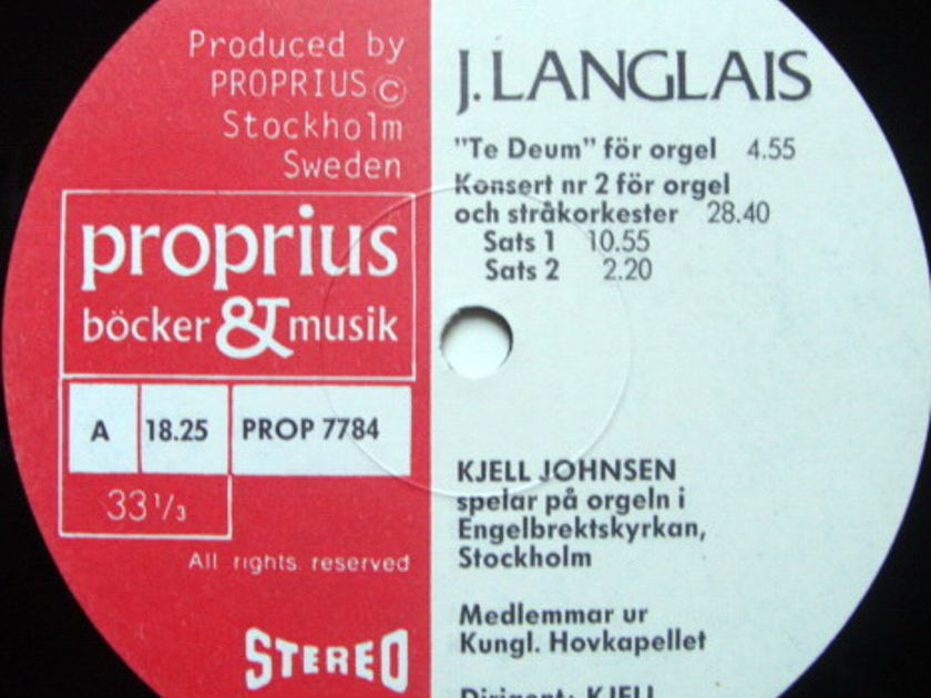 ★Audiophile★ Proprius / JOHNSEN, - Honegger Fugue & Choral, MINT!