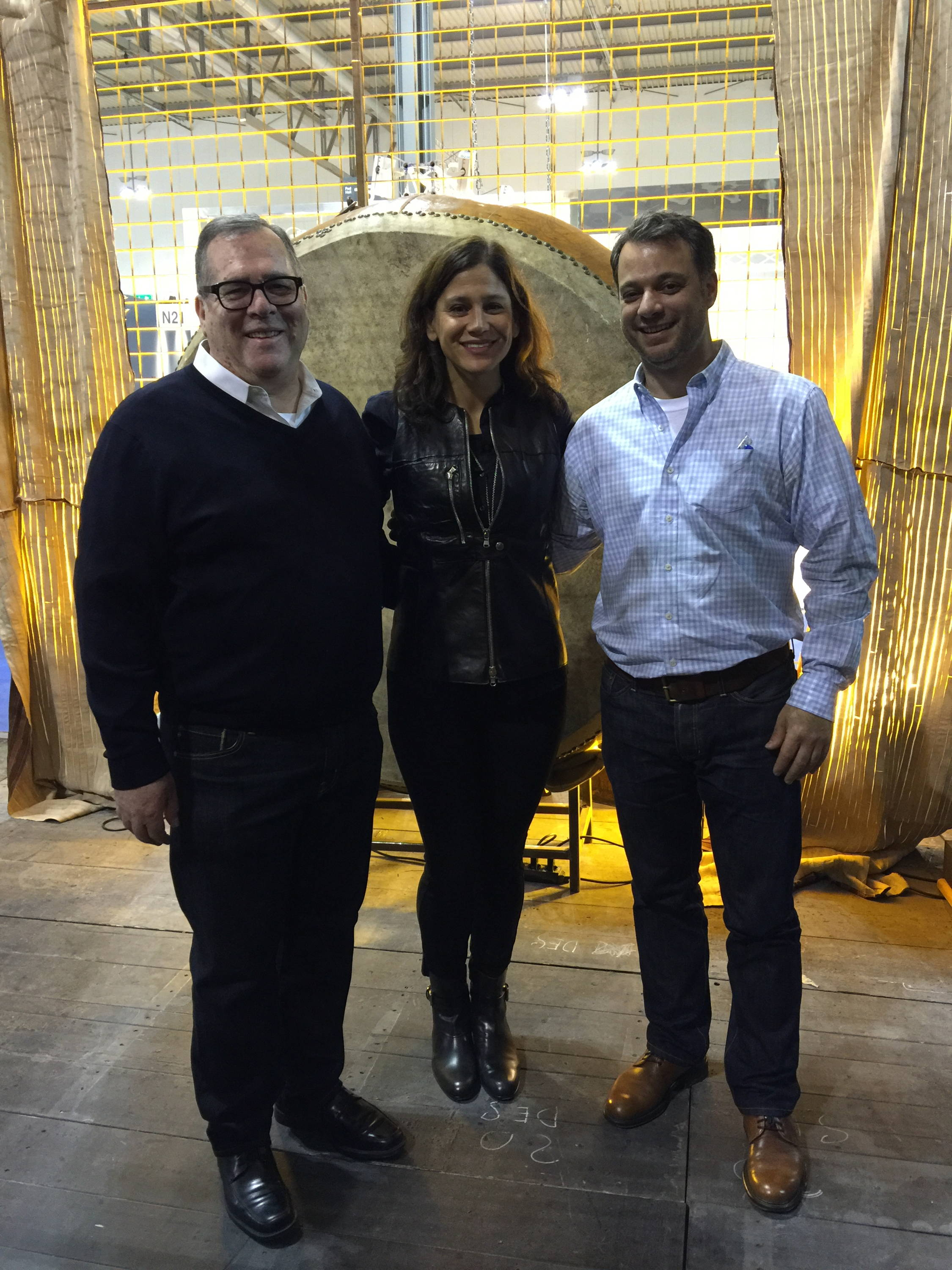 Stick & Ball Founder Elizabeth with Italian Leather Tannery