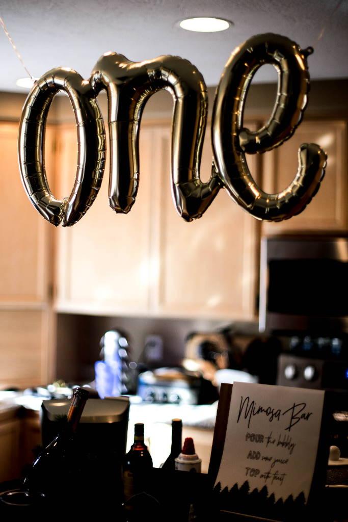 north star balloons, one balloon, baby bear, baby bear first birthday, designtwentyfive