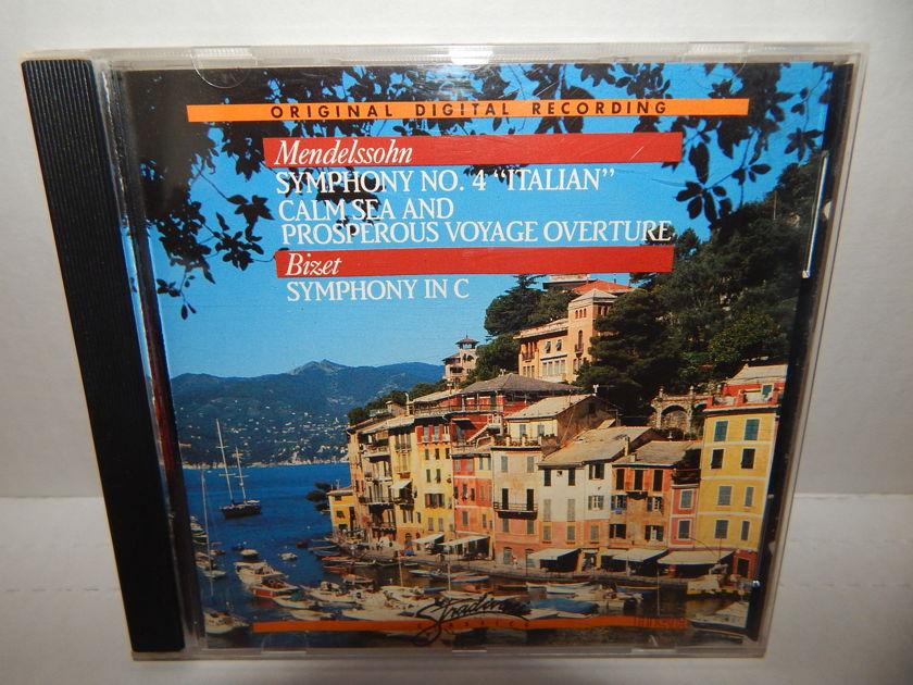MENDELSSOHN BIZET Anton Nanut - Calm Sea Prosperous Voyage Symphonies No. 4 & C 1988 Stradarvari metal center CD