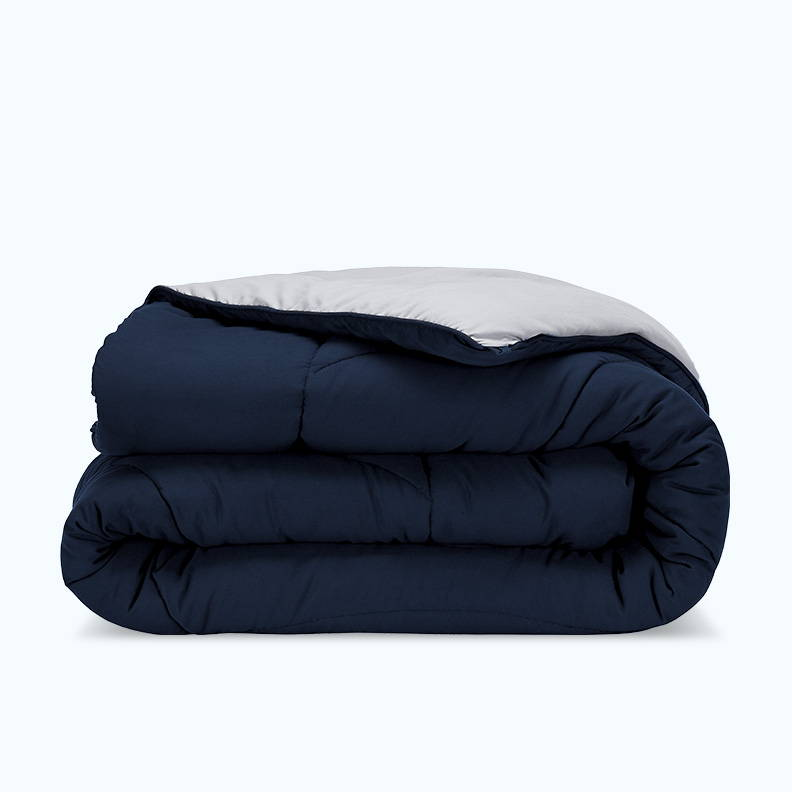 sleep zone bedding website store products collection all season reversible comforter navy blue grey gray