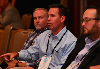 Dan Skiles of SSG, Greg Friedman of Junxure and Brian McLaughlin of Redtail